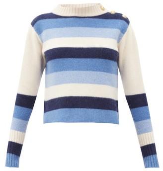 Wales Bonner Johnson Striped Wool Sweater - Blue White