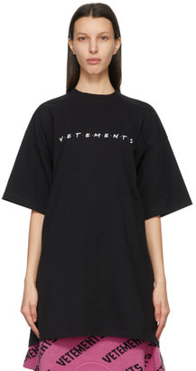 Vetements Black Friendly Logo T-Shirt