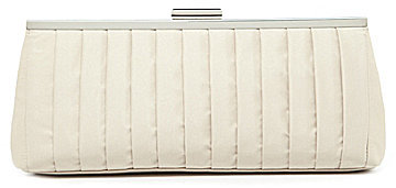 Kate Landry Social Front Pleated Frame Clutch
