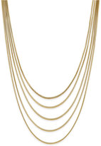 INC International Concepts Gold-Tone Multi-Row Necklace, Only at Macy's