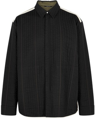 Oamc Temple black quilted cotton jacket