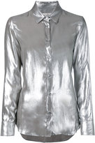 Golden Goose Deluxe Brand shiny long-sleeve shirt - women - Nylon/Cupro - S