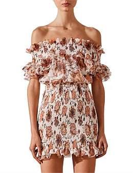 Shona Joy Baez Ots Shirred Mini Dress
