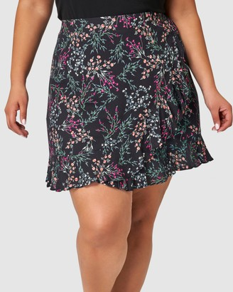 Sunday In The City - Women's Black Mini skirts - Chameleon Print Skirt - Size One Size, 16 at The Iconic