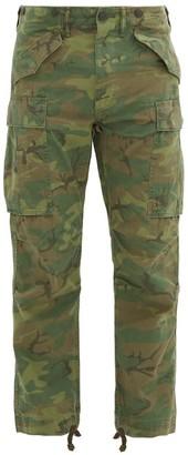 Ralph Lauren RRL Regiment Camouflage-print Cotton Cargo Trousers - Green