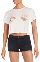 Wildfox Couture Shell Graphic Crop Top