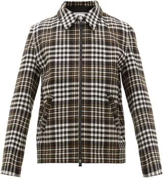 Ami Prince Of Wales Check Wool-blend Jacket - Mens - Black Multi