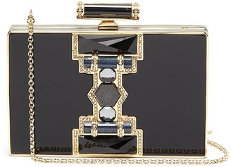 Judith Leiber 'Jazz Age' crystal embellished chain clutch
