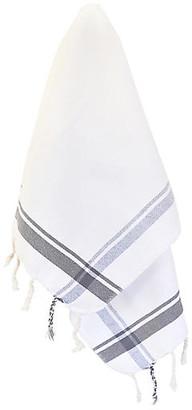 Turkish T Butcher Hand Towel - Slate slate gray/white