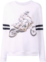 Zoe Karssen motorcycle print sweatshirt - women - Cotton/Spandex/Elastane - L