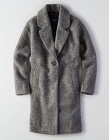 American Eagle AEO Long Wool Topper Coat