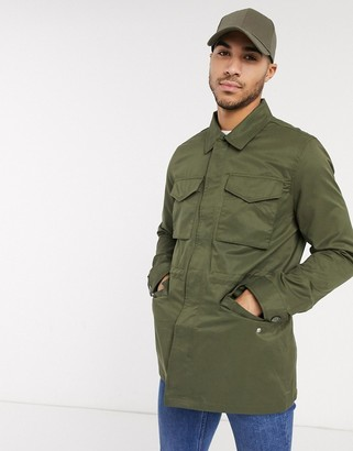 Burton Menswear utility coach jacket in khaki