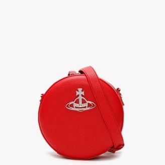 Vivienne Westwood Johanna Red Vegan Round Cross-Body Bag