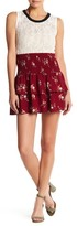 Socialite Layered Floral Mini Skirt