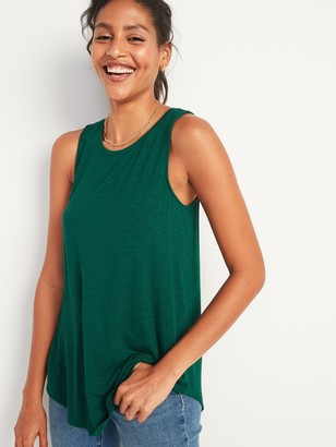 Old Navy Luxe High-Neck Slub-Knit Tank Top for Women