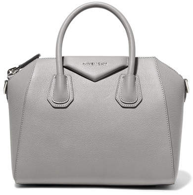 Givenchy Antigona Small Textured-leather Tote - Gray
