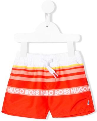 Boss Kidswear Contrast Logo Swim Shorts
