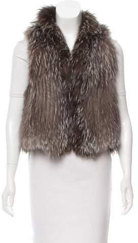 Yves Salomon Renard Fox Fur Vest
