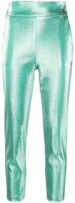 Elisabetta Franchi Cropped Sateen Trousers