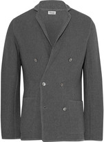 Camoshita Grey Double-Breasted Knitted Cotton Blazer