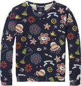 Scotch & Soda Printed Crew Neck Sweatshirt
