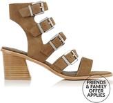 Sol Sana Jazz Suede Buckle Block Heel Sandals