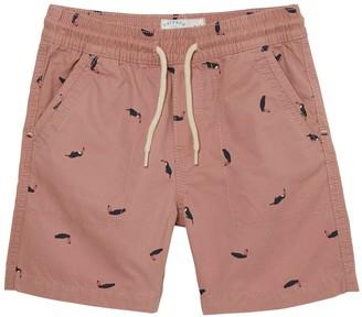 Fat Face Boys Studland Toucan Print Shorts - Pink