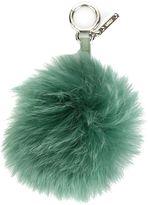 Fendi pom-pom bag charm - women - Calf Leather/Fox Fur - One Size