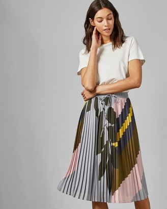 Ted Baker Maple Swirl Pleated Midi Dress