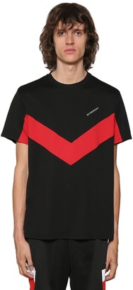 Givenchy Regular Fit V-cut Detail Cotton T-shirt