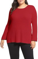 Vince Camuto Plus Size Women's Tipped Pullover