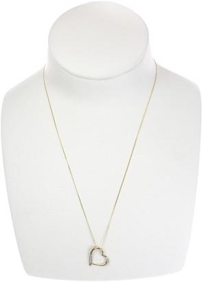 Love Diamond 9ct Gold Diamond Set Heart Pendant Necklace
