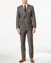 MICHAEL Michael Kors Men's Classic-Fit Black and Beige Glen Plaid Double Breasted Suit