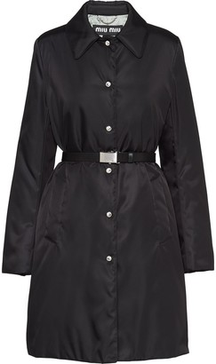 Miu Miu nylon gabardine puffer coat