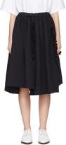 Comme des Garcons Navy Ruffle Skirt