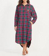 Lauren Ralph Lauren Plus Plaid Twill Maxi Sleepshirt
