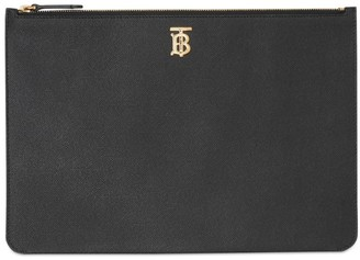 Burberry Grained Leather Pouch