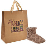Muk Luks Ardie Knit Slippers with Gift Bag