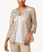 JM Collection Petite Textured Faux-Leather Jacket