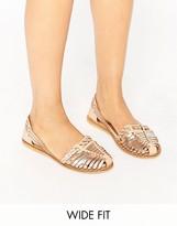 Asos JORDAN Wide Fit Leather Summer Shoes