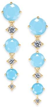 Eliot Danori Stone & Crystal Triple Drop Earrings, Created for Macy's