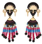 Etro Bead and crystal-embellished drop earrings