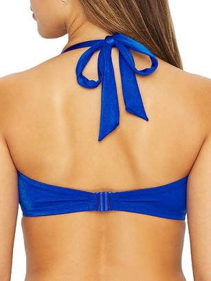 Pour Moi? Azure Halter Bikini Top