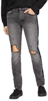 Hudson Axl Skinny Fit Poly Side Seam Jeans in Back Court