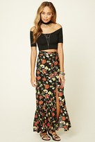 Forever 21 FOREVER 21+ Button-Down Floral Maxi Skirt
