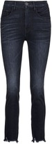 3x1 'W3 Straight Authentic' high rise cropped jeans
