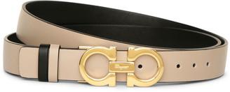 Salvatore Ferragamo Reversable and adjustable gancini belt
