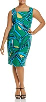 Marina Rinaldi Dorato Graphic Print Sheath Dress