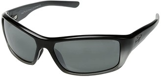 Maui Jim Barrier Reef (Black/Silver/Grey/Neutral Grey) Athletic Performance Sport Sunglasses