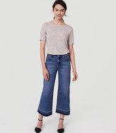 LOFT Petite Modern Wide Leg Crop Jeans in Vintage Indigo Wash